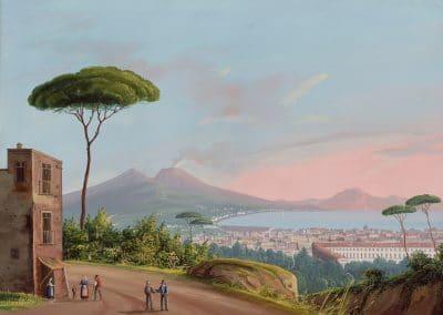 Napoli dai Pontirossi - vue de la baie de Naples depuis Ponti Rossi