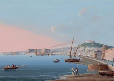 Napoli dal Carmine - vue générale de la vue de Naples
