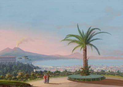 Napoli dal Casino della Regina Madre - vue générale de la baie de Naples