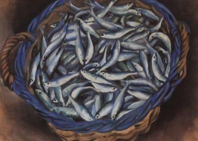 Panier avec sardines - Zinaida Serebriakova (1930)