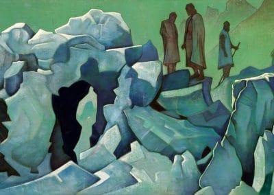 Patrol of Himalayas - Nicholas Roerich (1925)