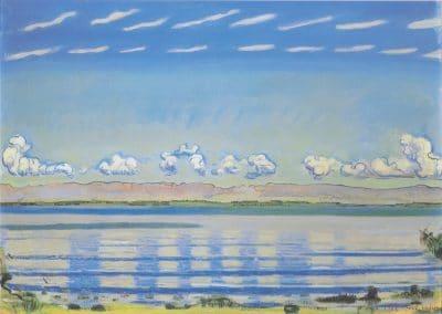 Rhythmic landscape on lake Geneva - Ferdinand Hodler (1908)