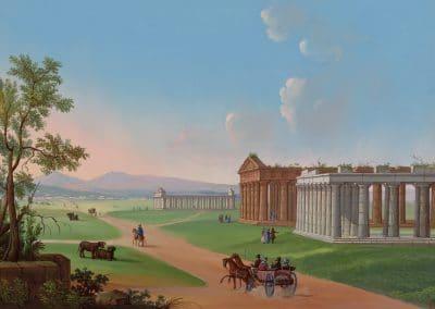 Tempi de pesto - vue générale du temple de Neptune