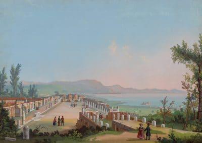 Tempio di Giove e foro a Pompei - vue générale du temple de Jupiter et du forum de Pompéi
