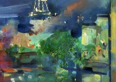 The Eiffel tower at night - Constantin Korovin (1924)