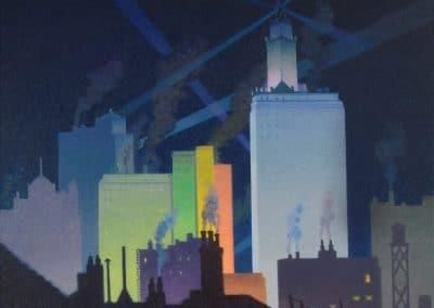 The night, Chicago - Raymond Jonson (1921)