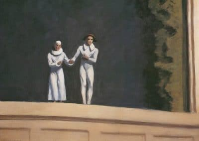 Two comedians - Edward Hopper (1965)