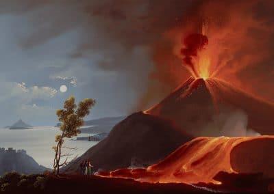 Vue du Vésuve en éruption
