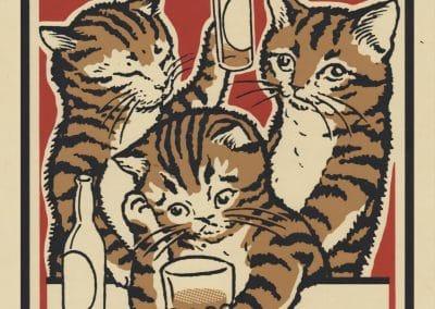 Boîtes d'allumettes chats en soirée - Arna Miller 2018 (15)