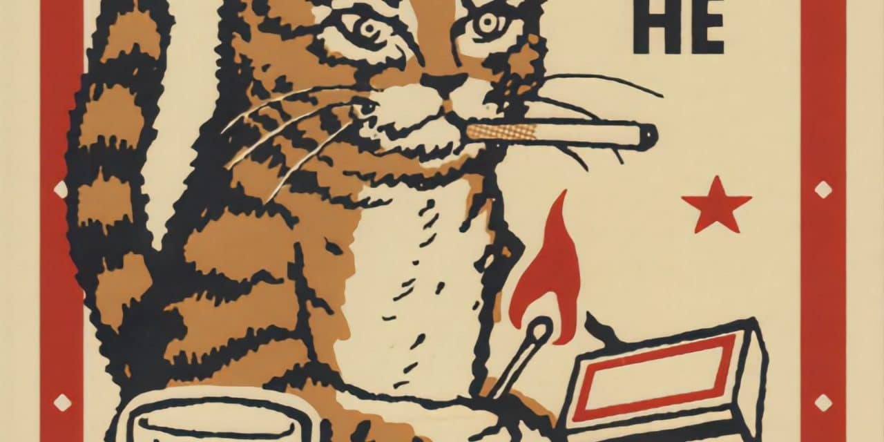Boîtes d'allumettes «chats en soirée» – Arna Miller